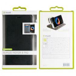 Muvit Etui Folio stand Noir Huawei Honor 8 Pro