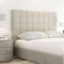 SOGNO Tete de lit capitonnée style contemporain - Tissu beige - L 160 cm