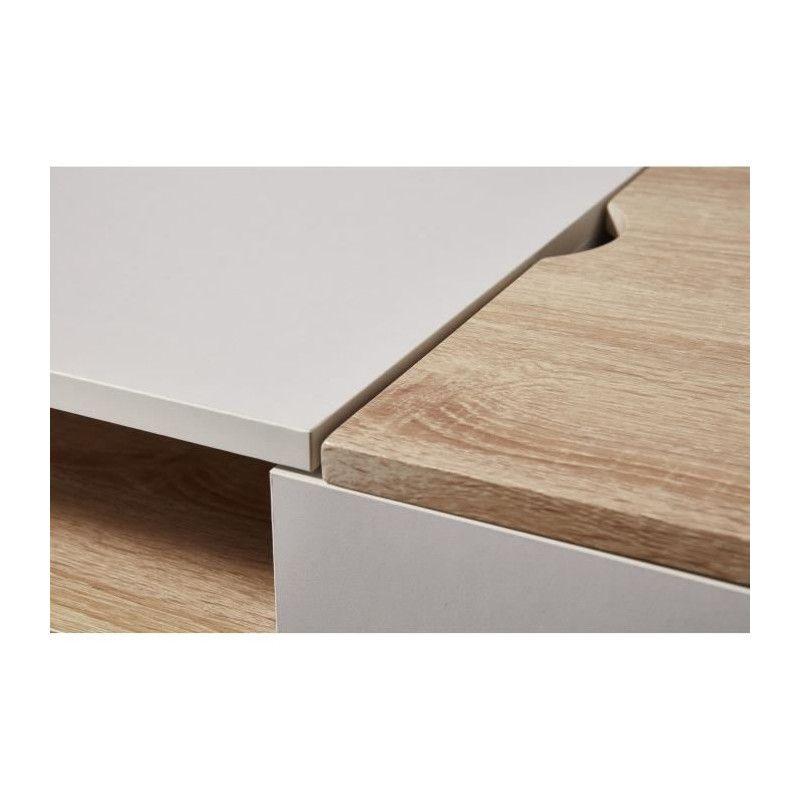 prague bureau scandinave d cor chene clair et blanc. Black Bedroom Furniture Sets. Home Design Ideas