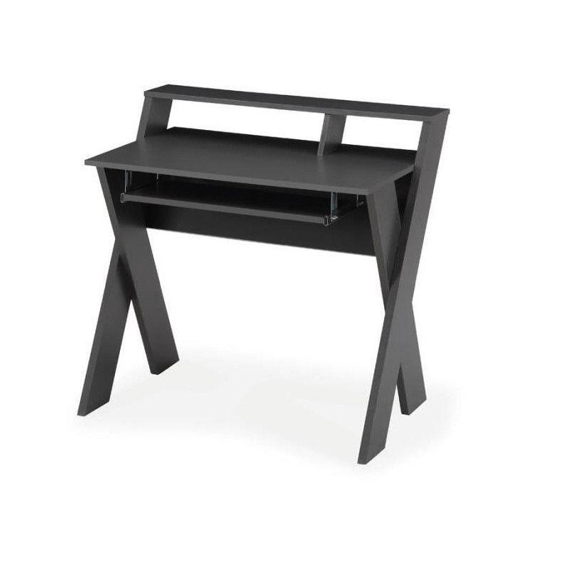 kamao bureau secr taire contemporain gris mat l 90. Black Bedroom Furniture Sets. Home Design Ideas