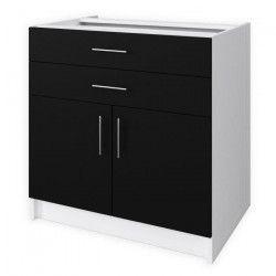 OBI Meuble bas de cuisine L 80 cm - Noir mat