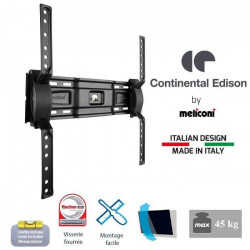 CONTINENTAL EDISON Support TV mural inclinable TV 40-65`` VESA 400*400