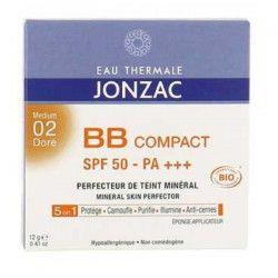 EAU THERMALE JONZAC Perfécteur de teint minéral 5-en-1 BB Compact solaire 02 doré - 12 g