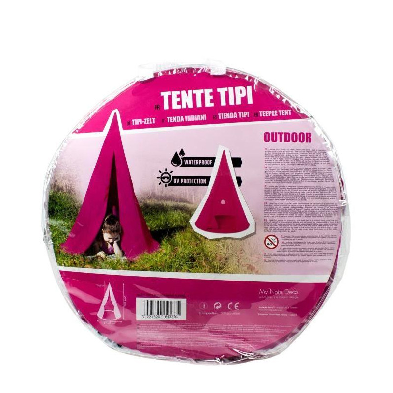 my note deco tente tipis pop up rose fuchsia pour. Black Bedroom Furniture Sets. Home Design Ideas