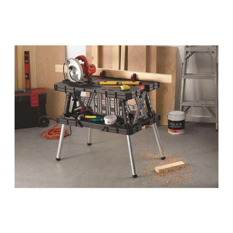 Table Etabli Maximale De Travail Charge Keter Pliable 4jL3R5qcA