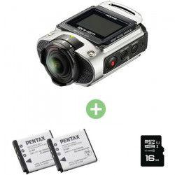 RICOH WG-M2 Silver + 2 batteries + carte micro SD 16Go