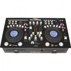 IBIZA FULL-STATION Console de mixage professionnelle avec double lecteur CD-MP3 et contrôleur USB/SD