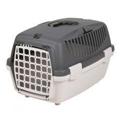 TRIXIE Box de transport Capri 1 - XS : 32x31x48 cm - Gris clair et gris foncé - Pour chien et chat