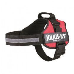 Harnais Power Julius-K9 - 2 - L-XL : 71-96 cm-50 mm - Rouge - Pour chien