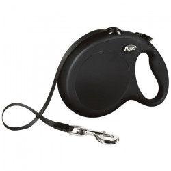 FLEXI New Classic Laisse sangle - L : 8 m - Noir - Pour chien
