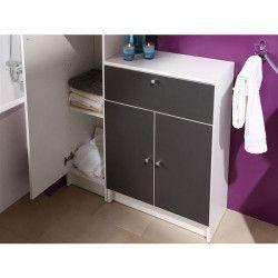 SLASH Meuble bas de salle de bain L 59 cm - Gris anthracite