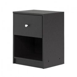 FINLANDEK Table de chevet TYYLIKÄS style contemporain décor noir - L 38 cm