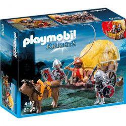 PLAYMOBIL 6005 - Knights - Chevaliers de l`Aigle et Charrette Piégée