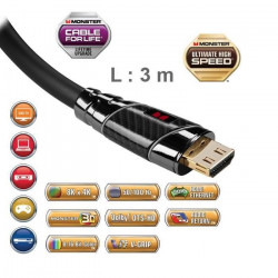 Câble HDMI Monster Black Platinium UHD 3m