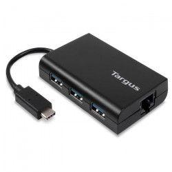 TARGUS HUB USB 3 ports + Ethernet - Noir
