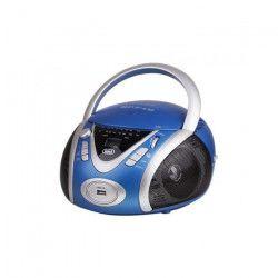 TREVI 0054204 Radio CD Portable - USB - Jack 3,5mm - Bleu