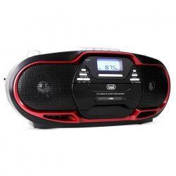 TREVI 0057402 Radio CD Cassette - USB - Noir et rouge