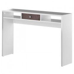 LINE Console - Contemporain - Mélaminée blanc et effet béton - L 120 cm