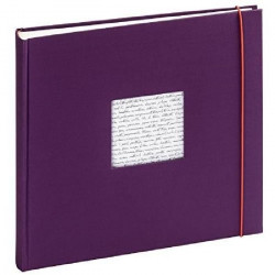 PANODIA Album photo traditionnel Linéa violet 60 pages 30x30 cm