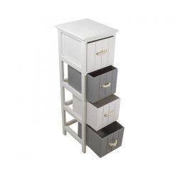 JERSEY Meuble de salle de bain L 25 cm - Blanc et gris