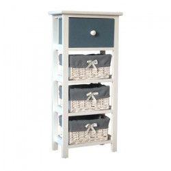 IBIZA Petit meuble de rangement de salle de bain 30 cm - Laqué blanc brillant