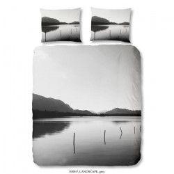 GOOD MORNING Parure de couette Landscape 100% coton - 1 housse de couette 220x240 cm + 2 taies d`oreillers 60x70 cm