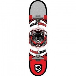 TRUE DRIVE Skateboard Animal Red