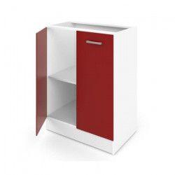 ULTRA Meuble bas de cuisine L 60 cm - Rouge mat