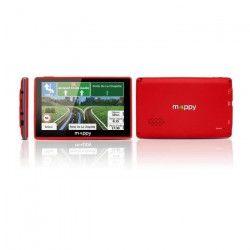 MAPPY ITI E-438 GPS Slim Rouge avec Housse Carte a Vie Intégrée