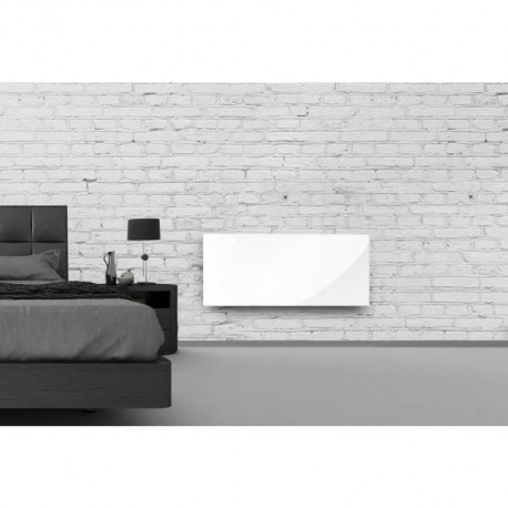 alpina verre blanc lcd 1000 watts radiateur panneau. Black Bedroom Furniture Sets. Home Design Ideas