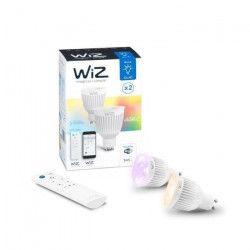 WIZ SMART Lot de 2 Ampoules spot LED RGBW connectée GU10 7 W équivalent a 35 W couleur