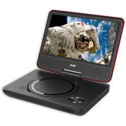 D-JIX PVS 906-20 Lecteur DVD portable 9` rotatif - Rouge