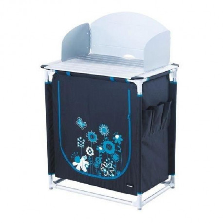 TRIGANO Meuble de cuisine - Gris et bleu turquoise