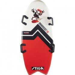 STIGA Luge planche Snow Rocket Fishtail - Rouge