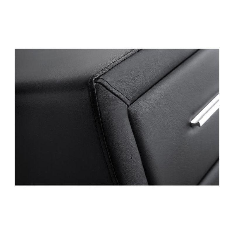 Table Chevet De L Leeds 48 Simili Cm Noir vn80ONwm