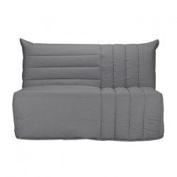 BECCI Banquette BZ 2 places - Tissu gris - Style contemporain - L 142 x P 101 cm