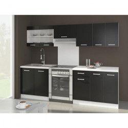 ULTRA Cuisine complete avec plan de travail L 2m40 - Noir mat