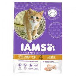IAMS Croquettes au poulet - Toutes races - 10kg - Pour chaton