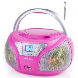 AUDIOSONIC CD-1560 Radio stéréo Disco LED light CD/USB-MP3 Rose