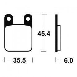 BENDIX Plaquettes de frein moto MA59 - Organique