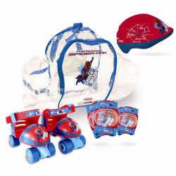 SPIDERMAN Patins Ajustables + Protections - Marvel