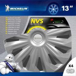 MICHELIN Boîte 4 enjoliveurs 13` NVS 04 gris