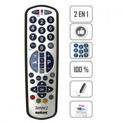 MELICONI GumBody Smart Senior 2 Télécommande universelle - 2 Piles AAA