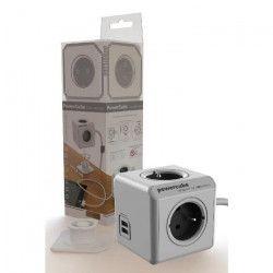PowerCube Extended bloc multiprise 4 prises et 2 prises USB avec câble 3m