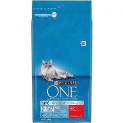 PURINA ONE Croquettes au boeuf et blé - Pour chat stérilisé adulte - 6 kg