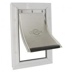 PETSAFE Porte Staywell cadre en aluminium - Blanc - Pour chat ou chien jusqu`a 18 kg