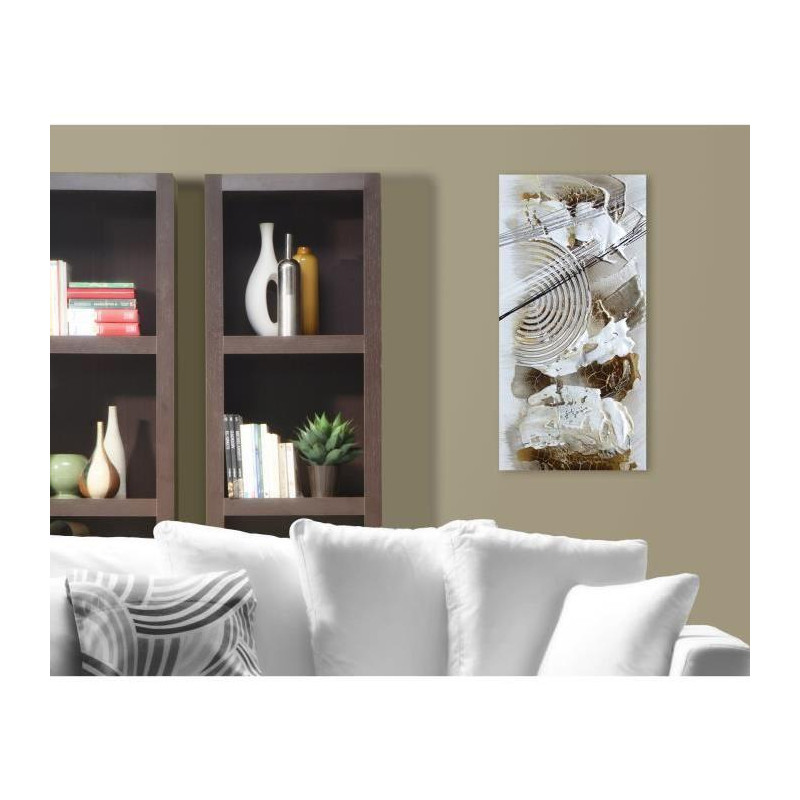 abstract tableau d co toile peinte a la main 30x60 cm. Black Bedroom Furniture Sets. Home Design Ideas