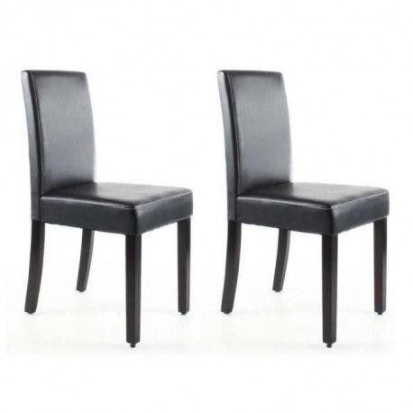 clara lot de 2 chaises de salle a manger simili. Black Bedroom Furniture Sets. Home Design Ideas