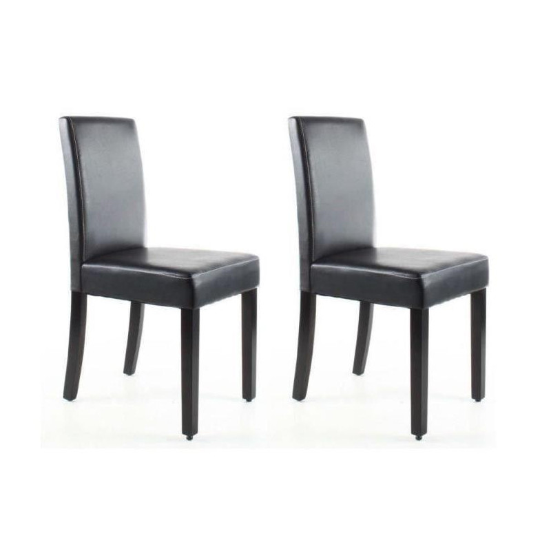 clara lot de 2 chaises de salle a manger simili. Black Bedroom Furniture Sets. Home Design Ideas