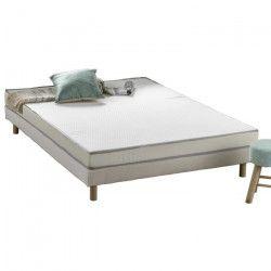 Matelas mousse 160 x 200 - Confort ferme - Epaisseur 12 cm - Livré roulé - FINLANDEK Kietoa